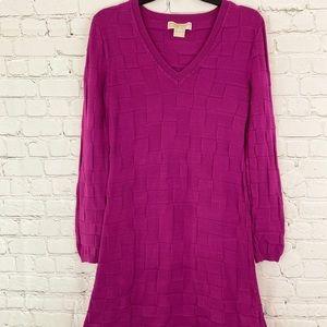 Michael Kors Purple Sweater Dress Sz S